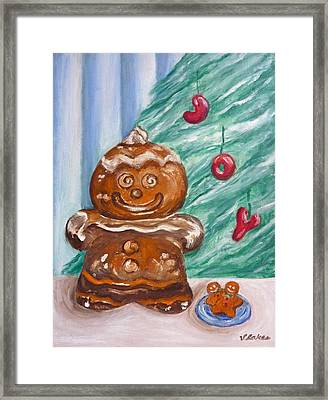 Gingerbread Cookies Framed Print