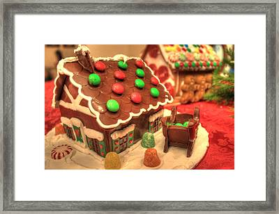 Gingerbread House Framed Print by Jane Linders