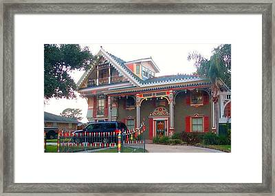 Gingerbread House - Metairie La Framed Print