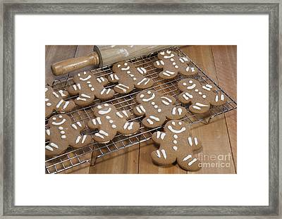 Gingerbread Man Cookies Framed Print