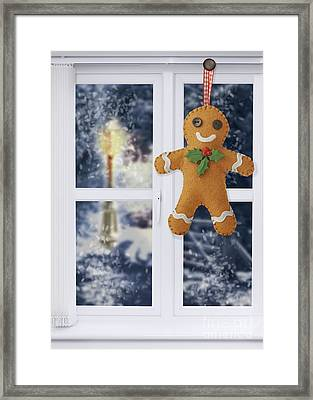Gingerbread Man Decoration Framed Print