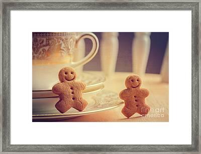 Gingerbread Men Framed Print by Amanda Elwell
