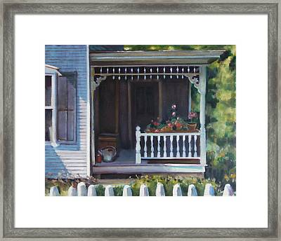Gingerbread Porch Warren Vermont Framed Print by Pat Percy