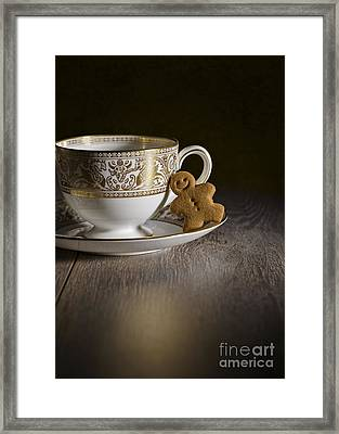 Gingerbread With Teacup Framed Print