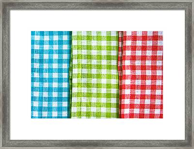 Gingham Framed Print by Tom Gowanlock