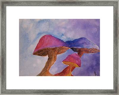 Gini's Shrooms Framed Print by Beverley Harper Tinsley