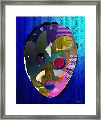 Ginsin Mask Framed Print