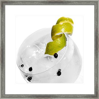 Gintonic Detail Framed Print by Gina Dsgn
