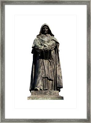 Framed Print featuring the photograph Giordano Bruno by Fabrizio Troiani