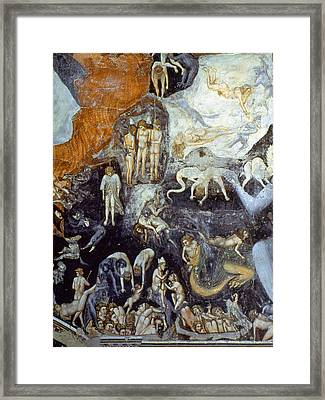 Giotto Detail Of Hell Framed Print