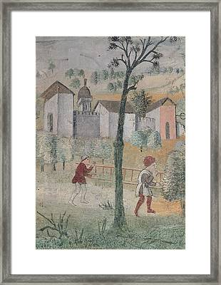 Giovan Pietro Da Cemmo, Assumpted Framed Print