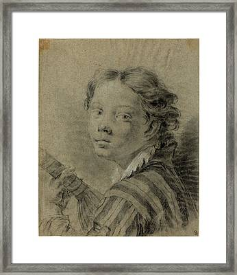 Giovanni Battista Piazzetta 1683-1754, A Boy With A Lute Framed Print by Litz Collection