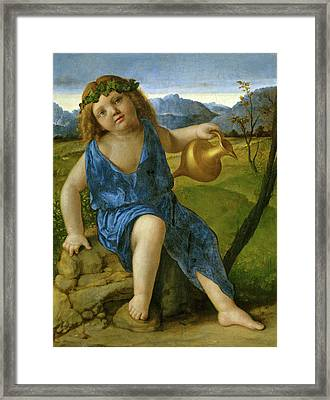 Giovanni Bellini, The Infant Bacchus, Italian Framed Print by Litz Collection
