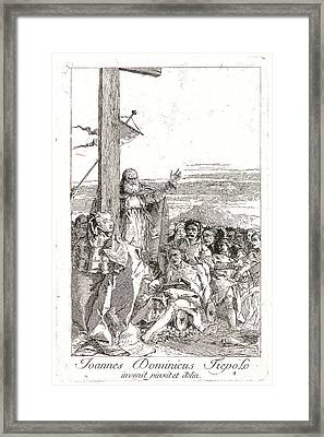 Giovanni Domenico Tiepolo Italian Framed Print by Litz Collection