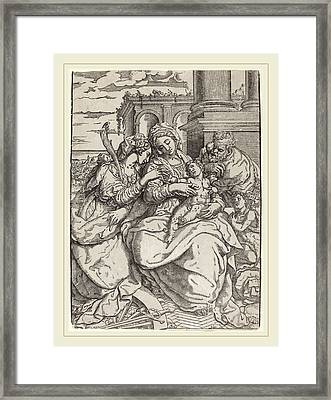 Giovanni Gallo After Marco Pino Italian Framed Print by Litz Collection