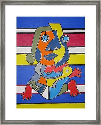 Gipsy Woman Framed Print by Daniel Burtea