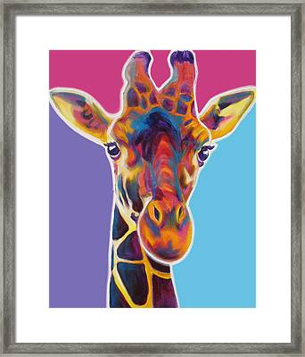 Giraffe - Marius Framed Print by Alicia VanNoy Call