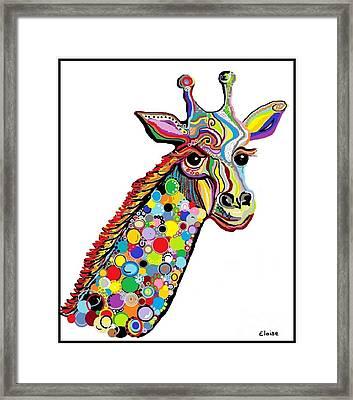 Giraffe Framed Print by Eloise Schneider