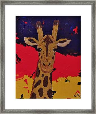 Giraffe In Prime 2 Framed Print