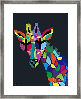 Giraffe Framed Print by Mark Ashkenazi