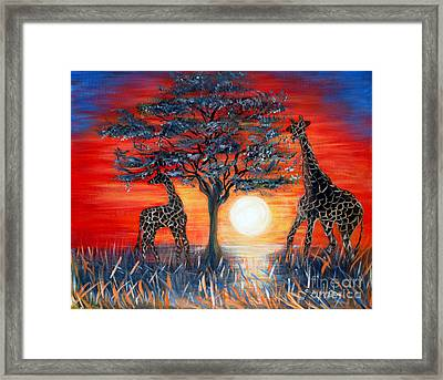 Giraffes. Inspirations Collection. Framed Print