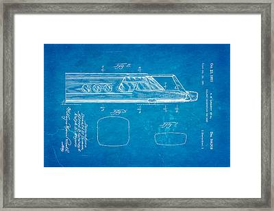 Girardy Railway Observation Car Patent Art  2 1951 Blueprint Framed Print by Ian Monk