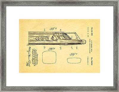 Girardy Railway Observation Car Patent Art  2 1951 Framed Print by Ian Monk