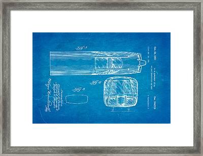 Girardy Railway Observation Car Patent Art  3 1951 Blueprint Framed Print by Ian Monk