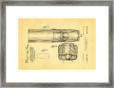 Girardy Railway Observation Car Patent Art  3 1951 Framed Print