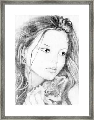 Girl Framed Print by Ahmed Amir