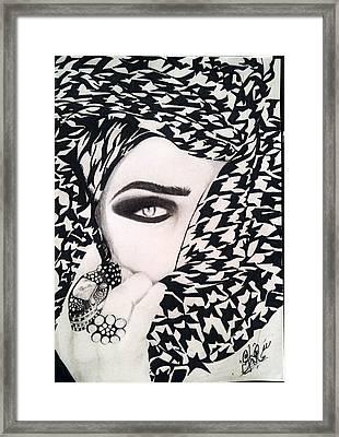 Girl Art Framed Print by Sahar Abid