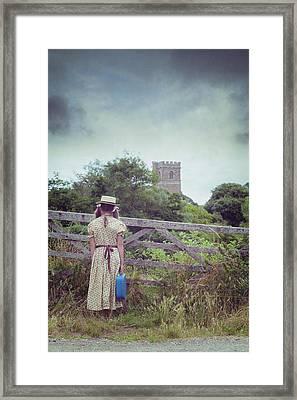 Girl At Gate Framed Print by Joana Kruse