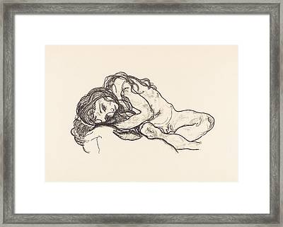 Girl Framed Print by Egon Schiele