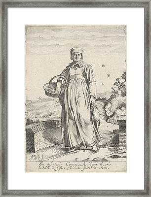 Girl From Fishing Village On The North Sea Coast Framed Print