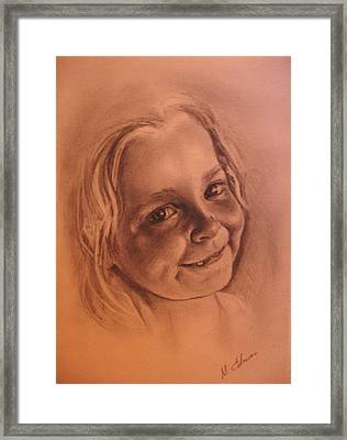 Girl From Neighbourhood Arisha Framed Print