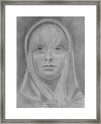 Girl Hoodie Framed Print