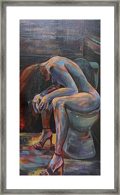 Girl In A Glass #10 Framed Print by Susi LaForsch