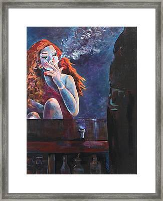 Girl In A Glass #11 Framed Print