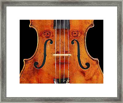Girl In A Violin Framed Print