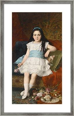 Girl In A White Dress Framed Print by Mountain Dreams