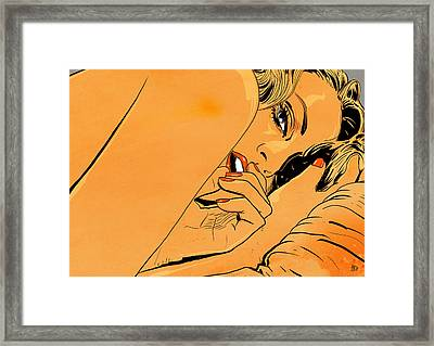 Girl In Bed 1 Framed Print