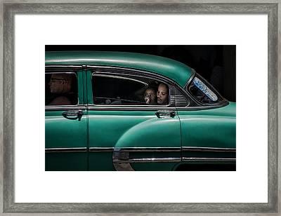 Girl In Green Framed Print