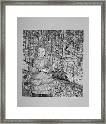 Girl In The Forest Framed Print by Daniel Reed
