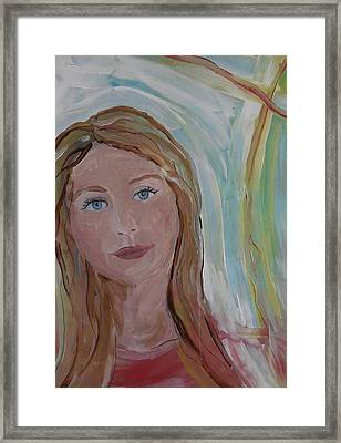 Girl In The Sun Framed Print by Made by Marley