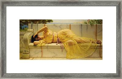 Girl In Yellow Drapery Framed Print