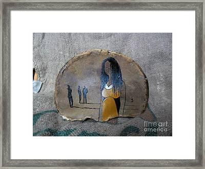 Girl In Yellow Framed Print by Ildiko Decsei