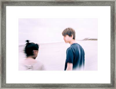 Girl Its Almost Like You're There Framed Print by Wade Brooks