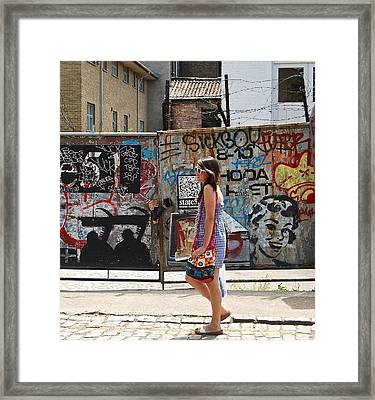 Girl London Framed Print