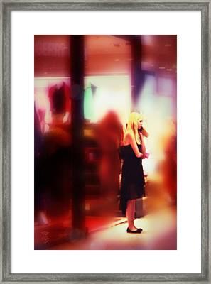 Girl Loves Gerry Framed Print by Li   van Saathoff