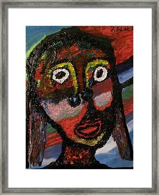 Girl Moheka   Framed Print by Darrell Black
